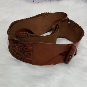 Vintage Guess Wide Braided Toggle Belt L EVC